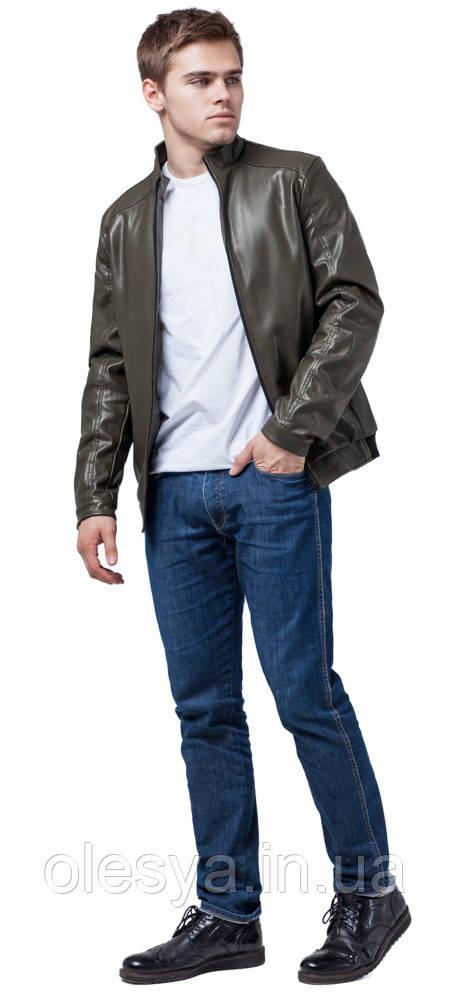 Непромокаемая мужская куртка осенне-весенняя цвета хаки модель 1588