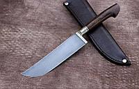 """Нож ручной работы из дамасской стали """"Пчак"""" с рукоятью из айронвуд"""