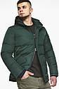 Темно-зеленая куртка зимняя мужская с удобными карманами модель 27544, фото 9