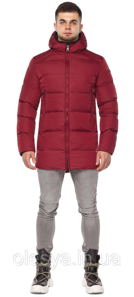 Яркая куртка красная зимняя мужская модель 38050