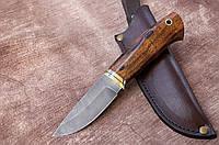 """Нож ручной работы из дамасской стали с рукоятью из айронвуда """"Гном"""", 200мм"""