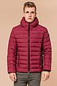 Бордовая мужская куртка качественного пошива модель 40962, фото 3