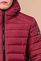 Бордовая мужская куртка качественного пошива модель 40962, фото 6