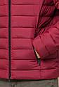 Бордовая мужская куртка качественного пошива модель 40962, фото 7