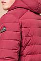 Бордовая мужская куртка качественного пошива модель 40962, фото 8