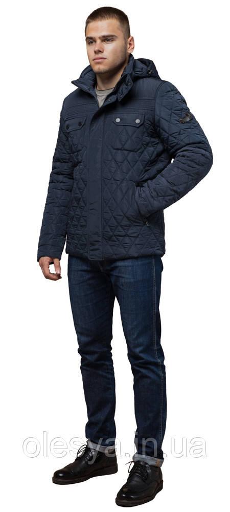 Мужская качественная светло-синяя куртка на зиму модель 1698