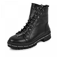 Ботинок  Кенди  черная  кожа, фото 1