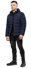 Подростковая темно-синяя фирменная куртка зимняя модель 6016