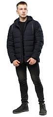 Трендовая куртка подростковая черная зимняя модель 6016