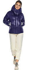 Куртка с манжетами синяя зимняя женская модель 44520