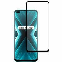 Защитное стекло 3D Full Glue на весь экран для Realme X3, черное