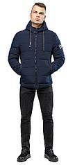 Зимняя подростковая куртка теплая цвет темно-синий модель 6009
