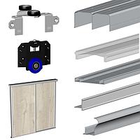 Комплект раздвижной системы для шкафа-купе Valcomp MARS для 2-х дверей L2000*H2700 (213-501)