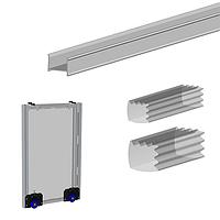 Соединительный профиль для монтажа зеркала в двери шкафа-купе в раздвижных системах Valcomp MARS L=2000 мм