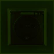 Розетка с заземлением и крышкой Luxel JAZZ (9711) графитовая