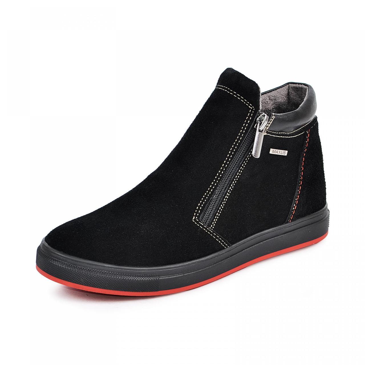 Ботинок  РК  2  черный  замш  комфорт