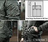 Куртки летные реплика ESDY MA-1 Flight Jacket серая демисезонная, фото 9