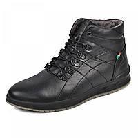 Ботинки  Грин  2  черная  кожа