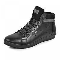 Ботинки  Фози  2  черная  кожа