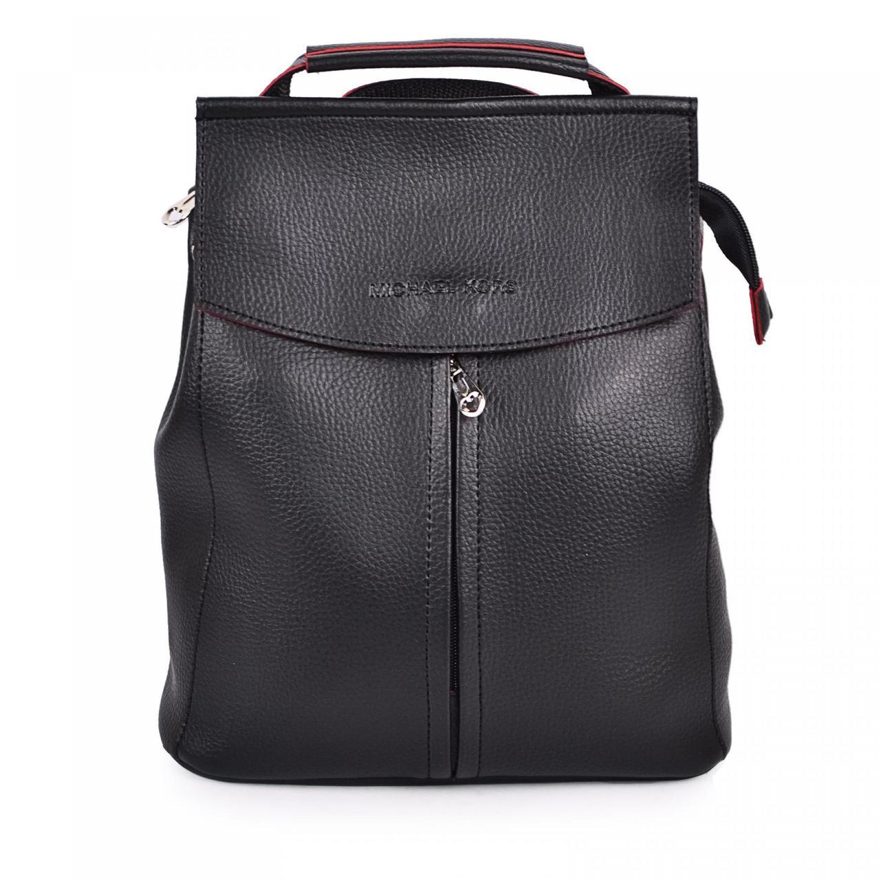 1912 сумка-рюкзак чорно/червоний