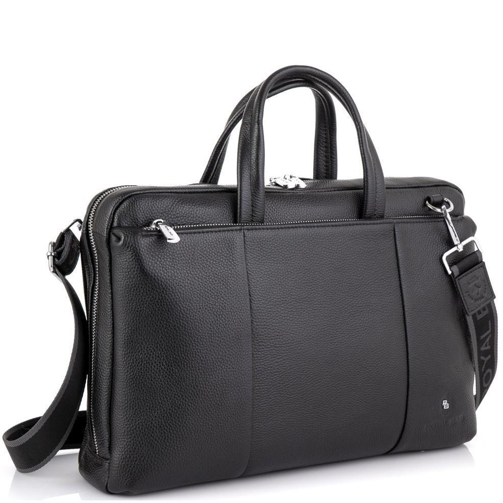 Вместительная деловая классическая сумка черная Royal Bag RB50111
