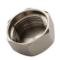 Заглушка латунная TIEMME 1/2В никелированная