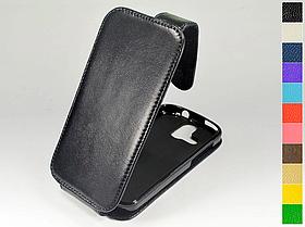 Откидной чехол из натуральной кожи для Acer Liquid E2 Duo V370