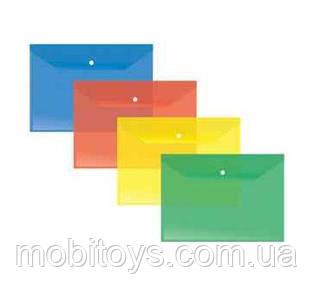 Папка-конверт А4 на кнопке Economix 180 мкм. Ш.К. 4825500130943