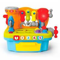 Игровой набор Hola Toys Столик с инструментами игрушки для мальчика девочки детские развивающие интерактивные