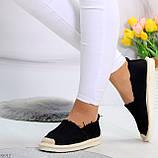 Стильные молодежные текстильные женские черные слипоны мокасины лоферы эспадрильи, фото 3