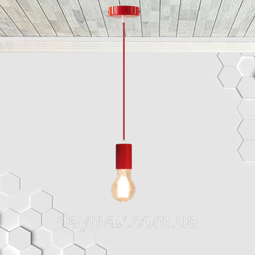 Подвесной светильник CEILING E27 красный на 1-лампу