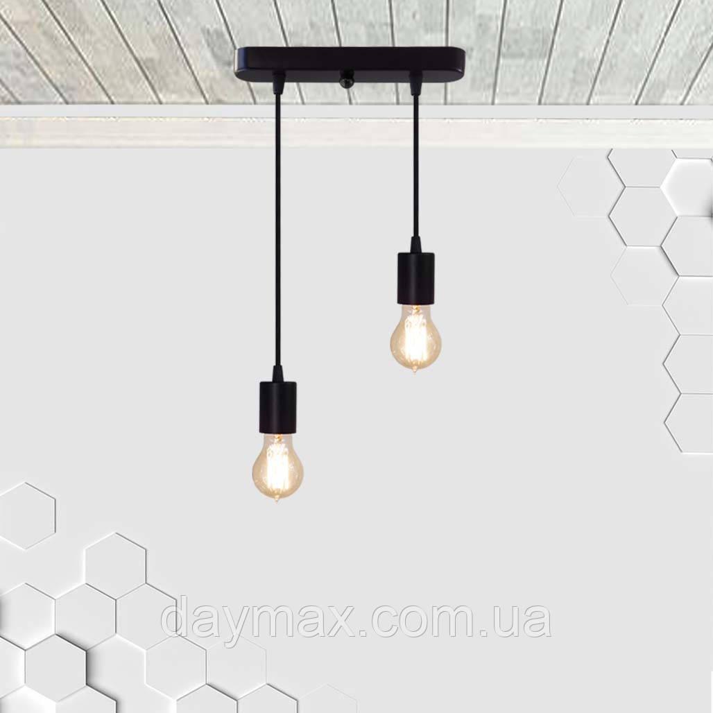 Підвісний світильник на 2-лампи CEILING-2 E27 чорний