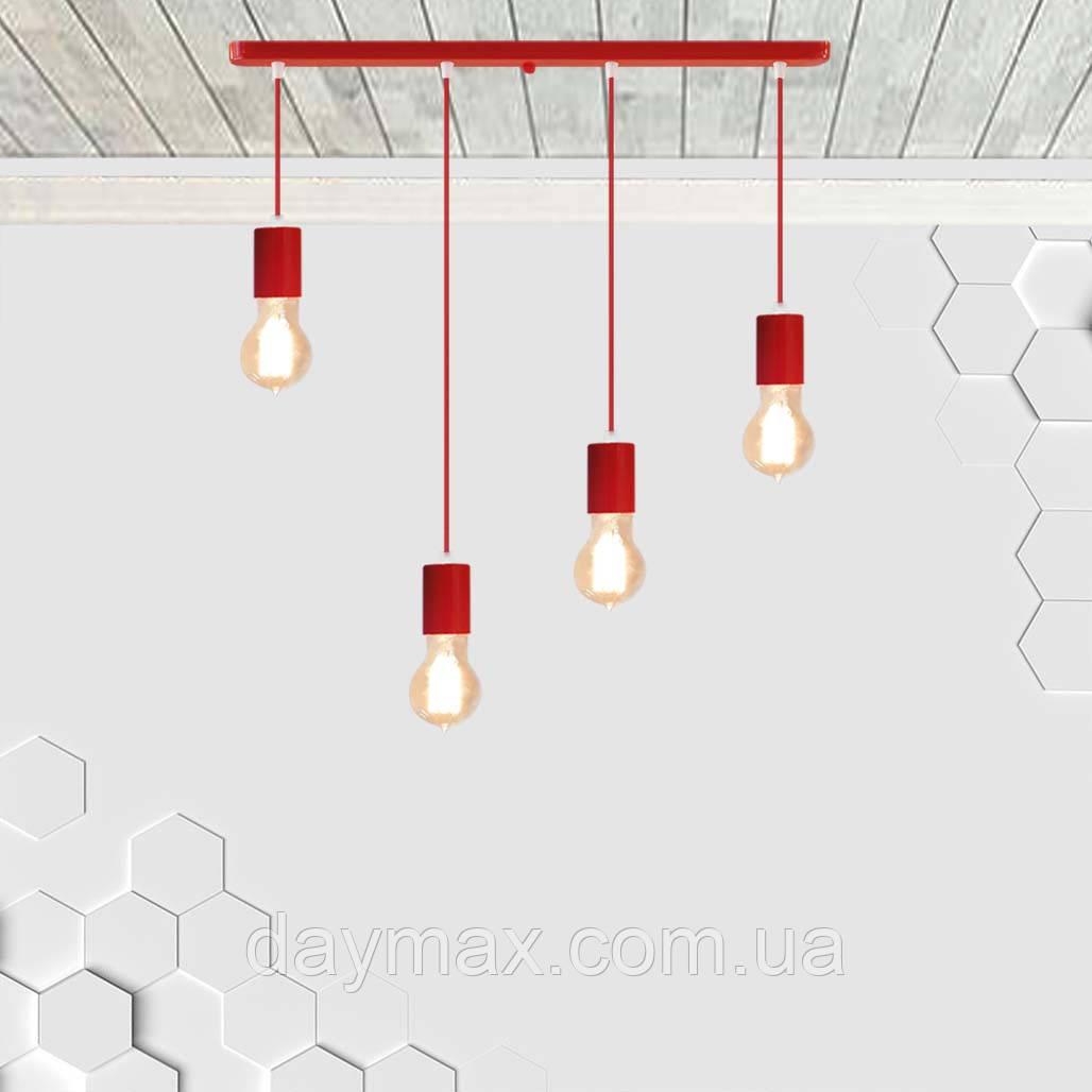 Подвесной светильник на 4-лампы CEILING-4 E27 красный