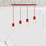 Подвесной светильник на 4-лампы CEILING-4 E27 красный, фото 2