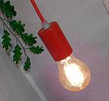 Подвесной светильник на 4-лампы CEILING-4 E27 красный, фото 7