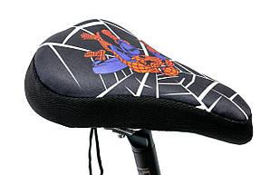 Накладка на детское седло Spider Man с гелевым наполнителем 200*150mm (черно-красный)