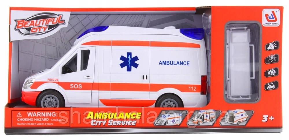 """Фургон швидкої допомоги """"city ambulance service"""" з автоматичною розстановкою (095370)"""