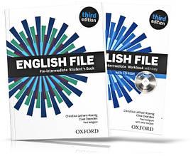 English File Pre-Intermediate, Student's book + Workbook / Учебник + Тетрадь английского языка