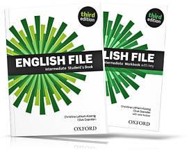 English File Intermediate, Student's book + Workbook / Учебник + Тетрадь английского языка