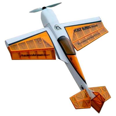 Самолёт Precision Aerobatics Katana Mini Kit на радиоуправлении 1020мм желтый SKL17-139833