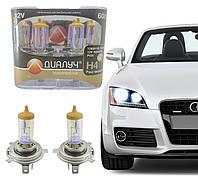 Авто лампы H-4 12 Вольт 60/55 Ватт + 30% P43T. Лампы с эффектом хамелеон!