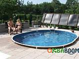 Сборный бассейн Azuro DE LUXE 404DL Mistry (550 х 370 х 120 см), Металлический бассейн, Овальная, 550 х 370 х, фото 5