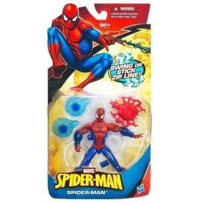 Фигурка Человек-Паук свисающий с паутины 12 см - Spider-man, Swing or Stick, Hasbro SKL14-143377