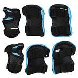 Комплект защитный SportVida SV-KY0005-M Size M Blue-Black SKL41-227695, фото 3