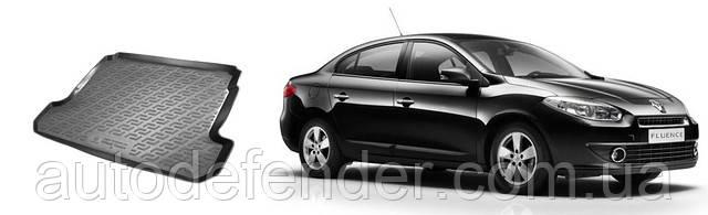 Коврик в багажник для Renault Fluence 2009-, резино-пластиковый (Lada Locker)
