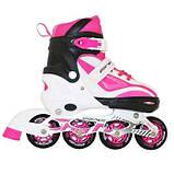 Роликовые коньки SportVida Size 39-42 White/Pink SKL41-239342, фото 2