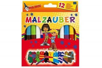 Фломастеры Malinos волшебные меняющие цвет Malzauber, 12 шт SKL17-149639