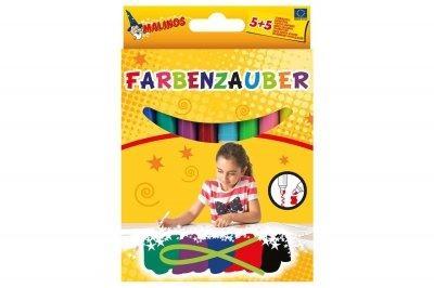 Фломастеры Malinos волшебные Farbenzauber светлые рисуют по тёмному, 10 шт SKL17-149640