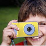 Детский фотоаппарат с записью видео и цветным экраном dvr baby camera V7 голубой SKL11-236840, фото 2