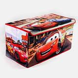 Коробка ящик для хранения игрушек и детских вещей Тачки SKL18-254805, фото 2
